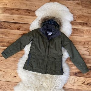 Columbia 3-in-1 Winter Jacket Olive Green Small